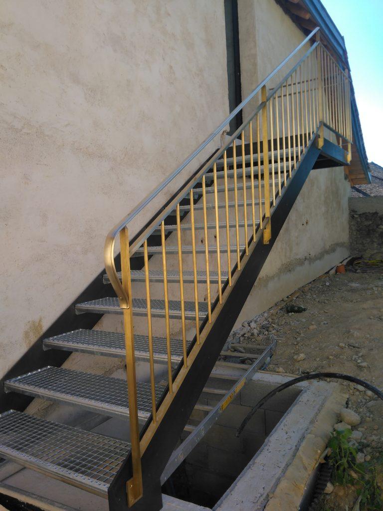 escalier ferronnerie acier