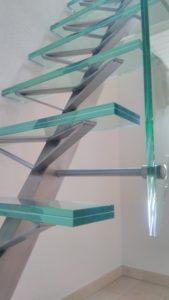 escalier ferronnerie verre