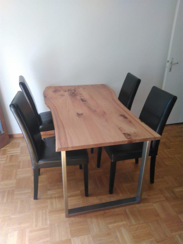 table inox et ormeau